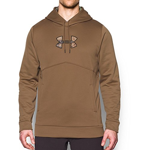 Oak Stack (Under Armour Men's Storm Caliber Hoodie, Saddle /Mossy Oak Obsession XXX-Large)