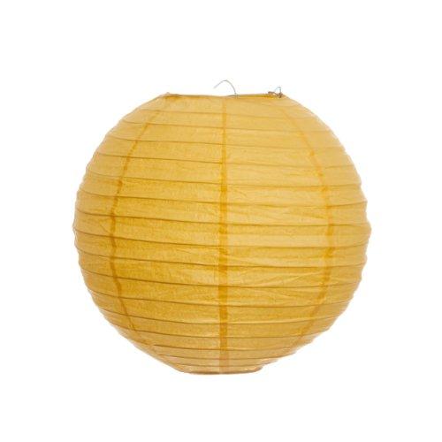 Koyal 8-Inch Paper Lantern, Yellow, Set of 6