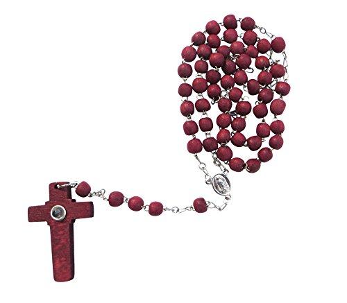 Virgen De Guadalupe Rosewood Rosary Rosario Palo de Rosa