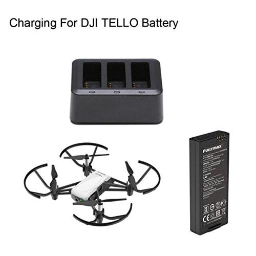 Drone_Tello DJI TELLO UAV Battery Manager for DJI TELLO 3-in-1 Multi-function Smart Battery Charger Hub Battery Charging (Black) by Drone_Tello