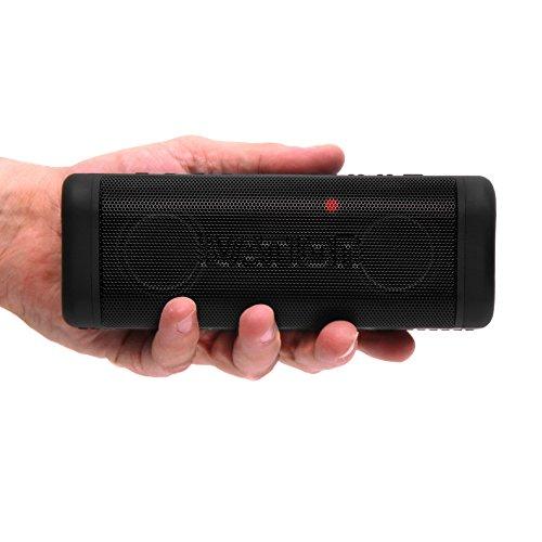 Portable Waterproof Bluetooth Speakers w/ FM Radio & LCD Display, IPX7 Water Resistant & Shockproof - Ultimate Wireless Handfree Rechargeable Shower Speakerphone