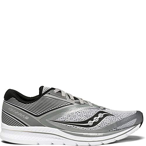 Saucony Men's Kinvara 9 Running Shoe, Grey/Black, 10.5 Medium US