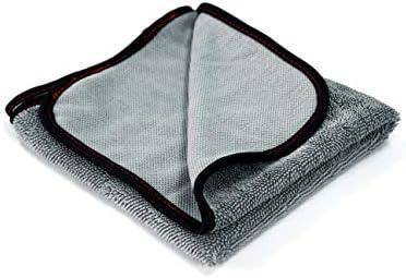 Maxshine 500GSM Microfiber Twisted Loop Drying Towel, Scratch-Free, Lint-Free and Swirl-Free, Grey, 40x40cm