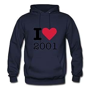 Best Ebolam Navy Cool I Love 2001 Sweatshirts Small Women