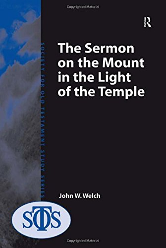 Read Online The Sermon on the Mount in the Light of the Temple pdf epub