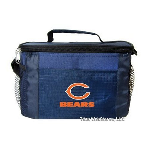 NFL Football Tailgating 6 Pack Cooler - Lunch Box Cooler (Bears) ()