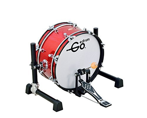 Goedrum GBD18 18'' Electric Kick Drum or Electronic Bass Drum Color Red by Goedrum