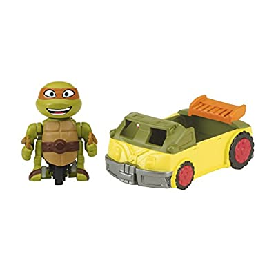 Teenage Mutant Ninja Turtles T-Sprints Mad Motion Michelangelo with Party Van Basic Figure