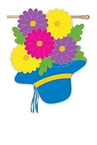 """Bonnet Bouquet Garden Flag Size: 18\"""" H x 12.5\"""" W"""