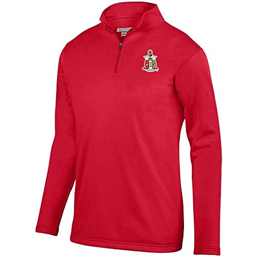 Kappa Alpha Psi World Famous Crest Wicking Fleece Pullover X-Large Red -