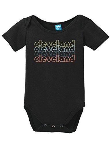 Ohio Uniform - Sod Uniforms Cleveland Ohio Retro Printed Infant Bodysuit Baby Romper Black 0-3 Month