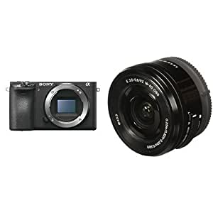Sony Alpha a6500 Mirrorless Digital Camera w/Sony SELP1650 16-50mm Power Zoom Lens