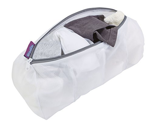 Woolite New and Improved Sanitzed Treated - Zippered 4 Pocket Mesh Hoisery Bag - Only Buy From Space With (4 Zippered Mesh Pockets)
