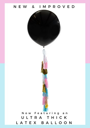 NEW and IMPROVED Gender Reveal Giant 36in Balloon, Confetti, and Tassel Combo Kit- It's a Boy!- GENDER REVEAL PARTY (Standard Helium Balloon Kit)