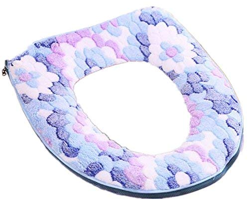 Warm Toilet Seat Covers - Lucky Beth Autumn Winter Warm Thicken Toilet Mat Toilet Seat Cover Pads Zipper