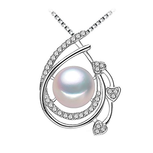 SuperLouisa Fashion Pearl Jewelry,Pearl Pendant Necklace,Pearl Silver Choker Necklace Pearl Pendant - Tiffany Jewelry Australia