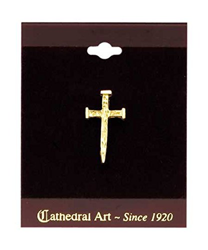 Cathedral Art T701 Nail Cross Inspirational Lapel -