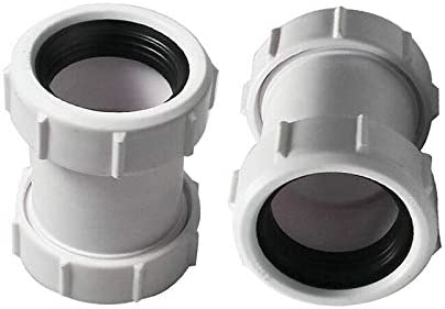 Conector de tubo recto SENRISE de 40 mm de PVC para tuber/ías de compresi/ón ajuste de 1//2 pulgadas para tuber/ías de desag/üe de ba/ño acoplamiento multicolor