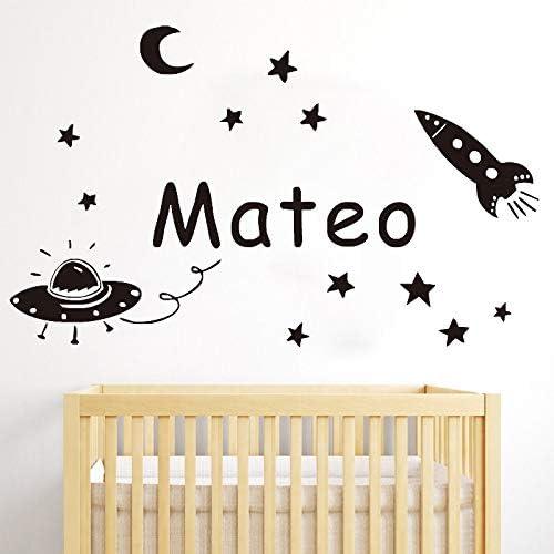 BailongXiao Bebé Kindergarten Pegatinas de Pared Luna Estrellas ...