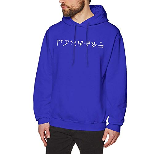 sensitives Skyrim Hoodie Male Long Pullover Hoodie Cotton Warm Cool Outdoor Over Size Black Hoodies,Blue,XXXL