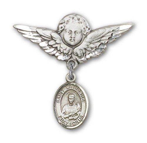 Icecarats Créatrice De Bijoux En Argent Sterling St. Lawrence Charme Ange Broche De Badge 1 1/8 X 1 1/8