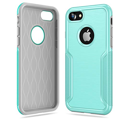 TORRAS Shockproof iPhone 8 case/iPhone 7 Case, Drop Protection Anti-Slip Slim Rugged Holster Cover Case with Armor Compatible with Apple iPhone 7/ iPhone 8 4.7 Inches, Mint Green (Best Iphone 7 Cases For Drop Protection)