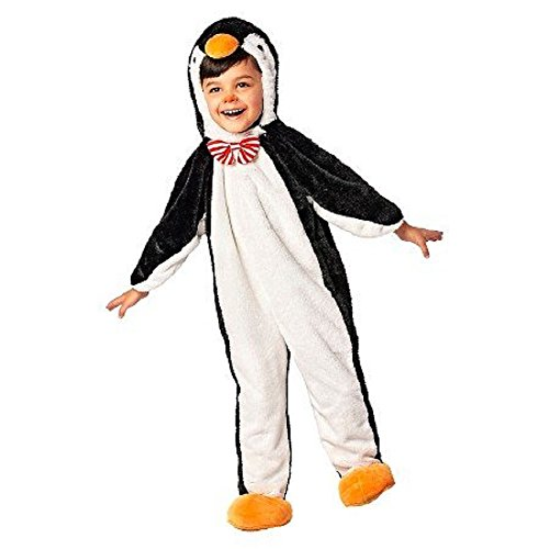 [Toddler Plush Penguin Costume Jumpsuit Size 2T - 3T] (Baby Costumes Penguin)
