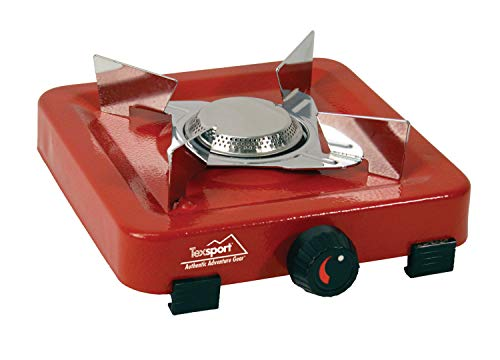 Texsport Compact Single Burner Propane Stove for Outdoor Camping Backpacking Hiking (Best Camp Stove Meals)