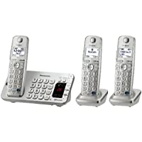 Panasonic KX-TGE273S Link2Cell Bluetooth Enabled Phone with Answering Machine, 3 Cordless Handsets, Silver (Certified Refurbished)