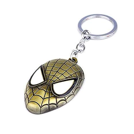 XIAOL Home Máscara de Spiderman Llavero Vengadores Joyas ...