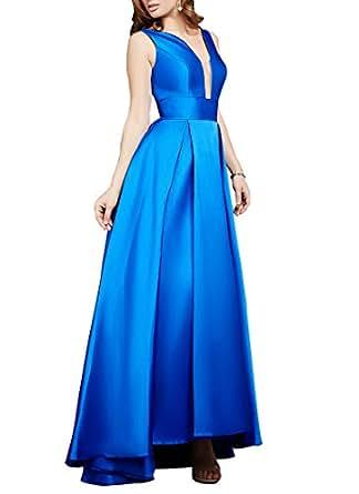 Amazon.com: Ezotion Girls Sexy A Line Royal Blue Long Prom