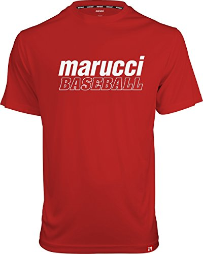 YOUTH MARUCCI BASEBALL PERFORMANCE TEE RED by Marucci