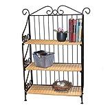 3-Tier Shelf, Wicker/Steel