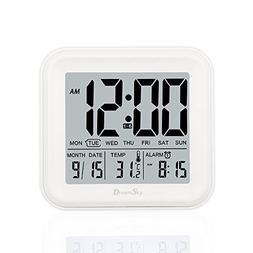 DreamSky Digital Alarm Clock With 3 Set Alarms And Light Act