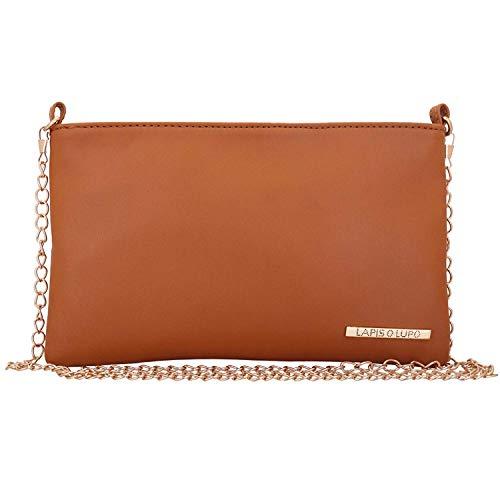 Lapis O Lupo Hazel Sling Bag da donna Tan Design tascabile multifunzionale