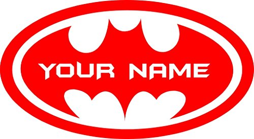 Chic Walls Removable Personalized Batman Logo Custom Name Text Wall Art Decor Decal Vinyl Sticker Mural Superhero Kids Room Nursery 22
