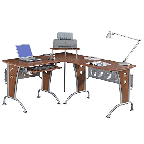 Deluxe Corner Desk Workstation - MyEasyShopping Deluxe Loft-style L-shaped Computer Desk L Desk Computer Shape Frame Finish