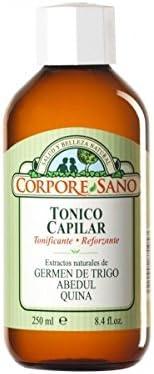 Tónico capilar Corpore Sano con aceite de germen de trigo y abedul
