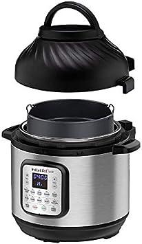 Instant Pot Duo Crisp + Air Fryer 8L Multicooker 11-en-1 Olla a presión, salteados, filetes, Olla de cocción Lenta, Sousvides, calienta, Papas Fritas al Aire, asados, hornea, asa y deshidrata.