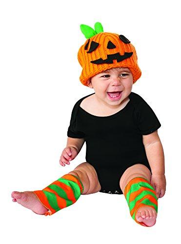 [Rubie's Costume Co Baby's Pumpkin Costume Kit, Orange, 6-12 Months] (Rubies Pumpkin Infant Halloween Costume)