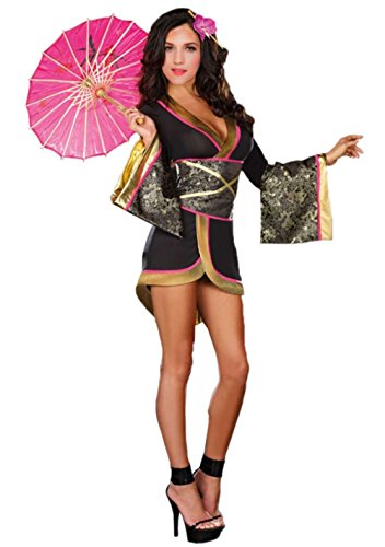Dragon Geisha Halloween Costume (Geisha Costume Adult - Halloween Women Geisha Kimono Cosplay Costume)