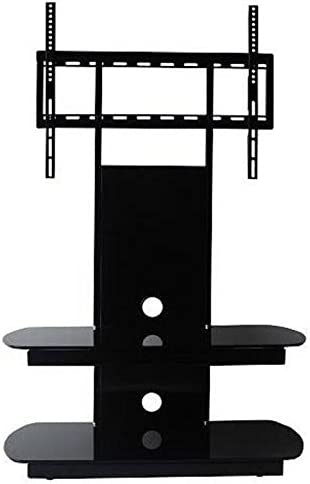 Oval Glass Tv Stand Cantilever Tv Stand For 37 Inch To 70 Inch 75 Inch Tv S Amazon Co Uk Tv