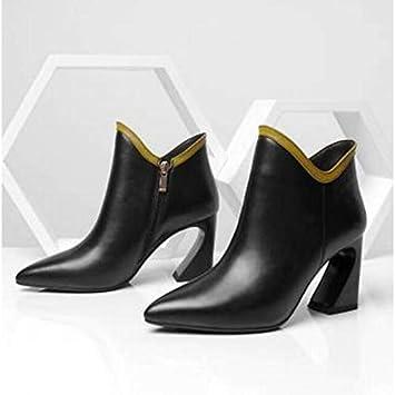 ZHZNVX Zapatos de tacón/Botines Blancos/Negros: Amazon.es: Deportes y aire libre