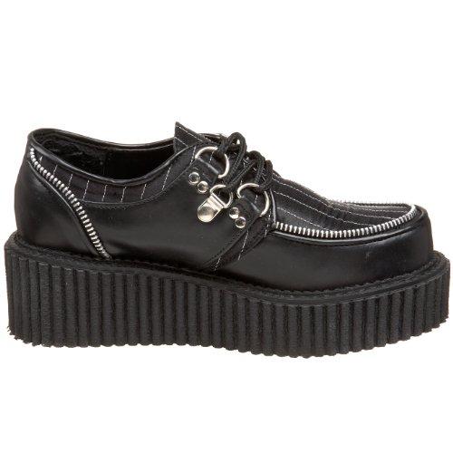 Demonia - Zapatos oxford mujer negro - negro