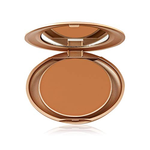 Milani Pressed Powder - Honey Amber (0.35 Ounce) Cruelty-Free Powder Foundation Compact with a Matte Finish for Light to Full Coverage