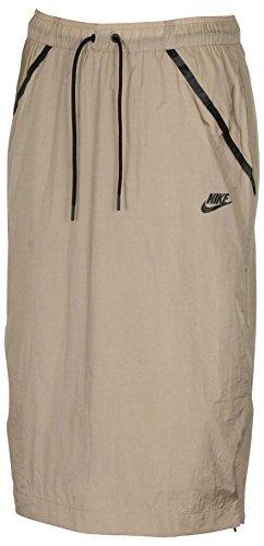 Nike Skirt Running - Nike Women's Tech Hypermesh Sportswear Skirt-Khaki-XS