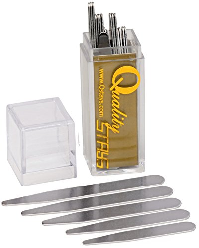 40 Metal Collar Stays in a Clear Plastic Box – 5 Sizes