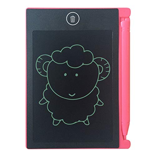 OUYAWEI LCD Writing Tablet Digital Drawing Electronic Handwriting Pad Message Graphics Board 4.4 inch Pink