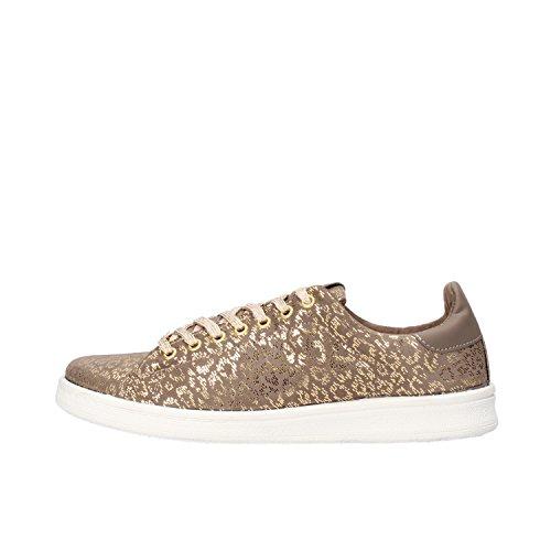 LIU JO sneakers donna 40 EU oro tessuto beige AF393-B