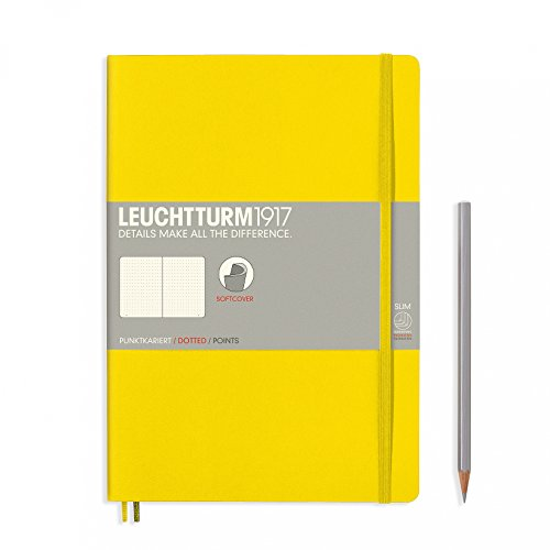 "Leuchtturm 1917 Soft Cover Composition B5 Notebook 7"" x 10"", Lemon Yellow, Dotted / Points by LEUCHTTURM1917"